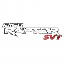 "Ford F-150 Raptor SVT 12"" 3M Perforated Unobstructed View Window Graphic Decorative Decal"