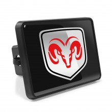 """Dodge RAM 2"""" Plastic Tow Hitch Cover with Locking Clip"""