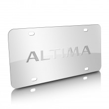 Nissan Altima Nameplate 3D Logo Chrome Stainless Steel License Plate