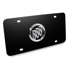 Buick 3D Logo Black Stainless Steel License Plate