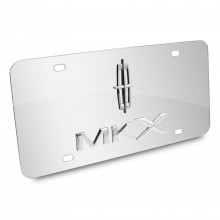 Lincoln MKX 3D Logo Chrome Stainless Steel License Plate