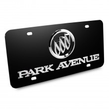 Buick Park Avenue 3D Logo Black Stainless Steel License Plate
