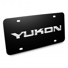 GMC Yukon Nameplate 3D Logo Black Stainless Steel License Plate