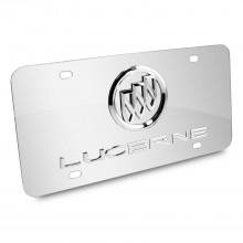 Buick Lucerne 3D Logo Chrome Stainless Steel License Plate