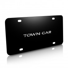 Lincoln Town Car Nameplate 3D Logo Black Stainless Steel License Plate