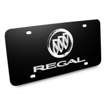 Buick Regal 3D Logo Black Stainless Steel License Plate