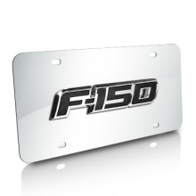 Ford F-150 3D Logo Chrome Stainless Steel License Plate
