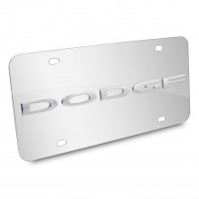 Dodge Nameplate 3D Logo Chrome Stainless Steel License Plate