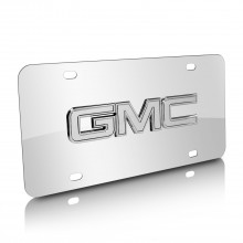 GMC Chrome 3D Logo Chrome Stainless Steel License Plate