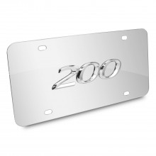 Chrysler 200 3D Logo Chrome Stainless Steel License Plate