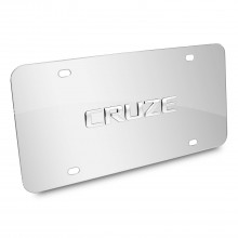 Chevrolet Cruze Nameplate 3D Logo Chrome Stainless Steel License Plate