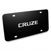 Chevrolet Cruze Nameplate 3D Logo Black Stainless Steel License Plate