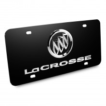 Buick Lacrosse 3D Logo Black Stainless Steel License Plate