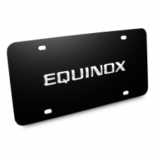 Chevrolet Equinox Nameplate 3D Logo Black Stainless Steel License Plate