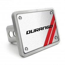 Dodge Durango UV Graphic Brushed Silver Billet Aluminum 2 inch Tow Hitch Cover