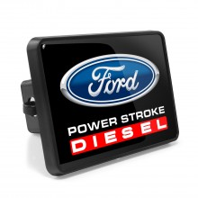 Ford Power-Stroke Diesel UV Graphic Metal Plate on ABS Plastic 2 inch Tow Hitch Cover
