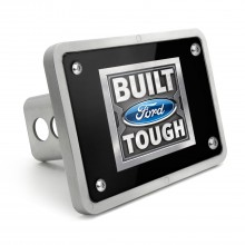 Ford Built Ford Tough UV Graphic Black Plate Billet Aluminum 2 inch Tow Hitch Cover