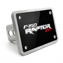 Ford Raptor SVT UV Graphic Black Plate Billet Aluminum 2 inch Tow Hitch Cover