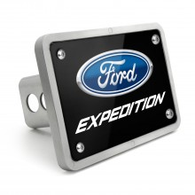 Ford Expedition UV Black Plate Billet Aluminum 2 inch Tow Hitch Cover