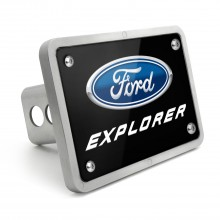 Ford Explorer UV Graphic Black Plate Billet Aluminum 2 inch Tow Hitch Cover