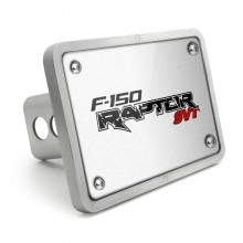 Ford Raptor SVT UV Graphic Brushed Silver Billet Aluminum 2 inch Tow Hitch Cover