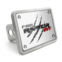 Ford Raptor SVT Claw Marks UV Graphic Brushed Silver Billet Aluminum 2 inch Tow Hitch Cover
