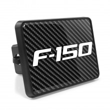 Ford F-150 2009-2014 Carbon Fiber Look UV Graphic Metal Plate on ABS Plastic 2 inch Tow Hitch Cover