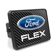 Ford Flex Carbon Fiber Look UV Graphic Metal Plate on ABS Plastic 2 inch Tow Hitch Cover