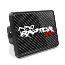 Ford Raptor Carbon Fiber Look UV Graphic Metal Plate on ABS Plastic 2 inch Tow Hitch Cover