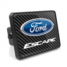 Ford Escape Carbon Fiber Look UV Graphic Metal Plate on ABS Plastic 2 inch Tow Hitch Cover