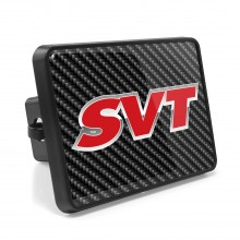 Ford SVT Carbon Fiber Look UV Graphic Metal Plate on ABS Plastic 2 inch Tow Hitch Cover