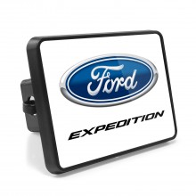Ford Expedition UV Graphic White Metal Plate on ABS Plastic 2 inch Tow Hitch Cover