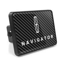Lincoln Navigator Carbon Fiber Look UV Graphic Metal Plate on ABS Plastic 2 inch Tow Hitch Cover
