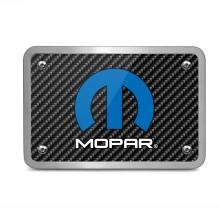 Mopar Logo UV Graphic Carbon Fiber Texture Billet Aluminum 2 inch Tow Hitch Cover