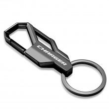 Dodge Charger Gunmetal Black Snap Hook Metal Key Chain