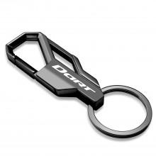 Dodge Dart Gunmetal Black Snap Hook Metal Key Chain