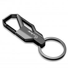 Dodge SRT Hellcat Challenger Gunmetal Black Snap Hook Metal Key Chain