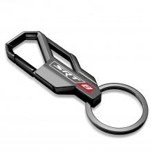 SRT-8 Logo Gunmetal Black Snap Hook Metal Key Chain for Dodge Jeep RAM