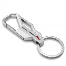 Dodge Challenger R/T Silver Snap Hook Metal Key Chain