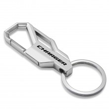 Dodge Charger Silver Snap Hook Metal Key Chain
