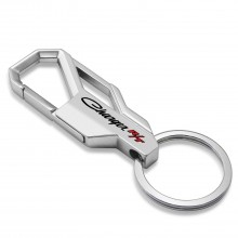 Dodge Charger R/T Classic Silver Snap Hook Metal Key Chain