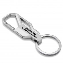 Dodge Grand Caravan Silver Snap Hook Metal Key Chain