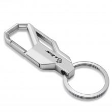 Dodge Challenger SRT Hellcat Silver Snap Hook Metal Key Chain