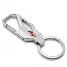 Dodge R/T Logo in Color Silver Snap Hook Metal Key Chain