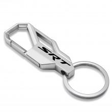 SRT Logo Silver Snap Hook Metal Key Chain for Dodge Jeep RAM Chrysler