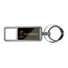 Ford Mustang Cobra Black Pull Top Rectangular Metal Key Chain