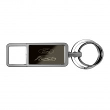 Ford Fiesta Black Pull Top Rectangular Metal Key Chain