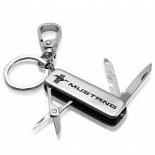 Ford Mustang Tri-Bar Multi-Tool LED Light Metal Key Chain