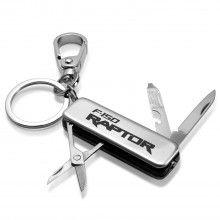 Ford F150 Raptor Multi-Tool LED Light Metal Key Chain