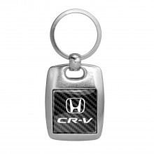 Honda CR-V on Carbon Fiber Backing Brush Metal Key Chain